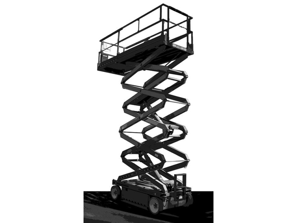 19 Ft Black Scissor Lift Electric | Miami