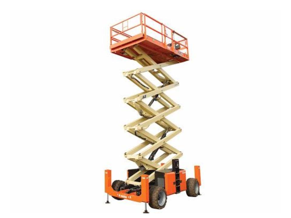 53 Ft Scissor Lift 4WD rough terrain scissor lift