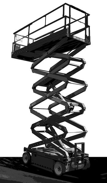 53 Ft Black Scissor Lift Electric | Los Angeles, CA