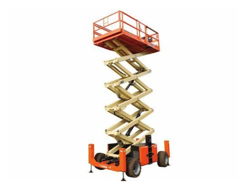 53 ft Scissor Lift Rough Terrain